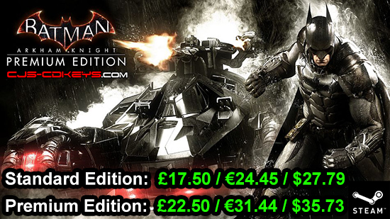 Batman: Arkham Knight Steam Key PREORDER NOW at BEST PRICE