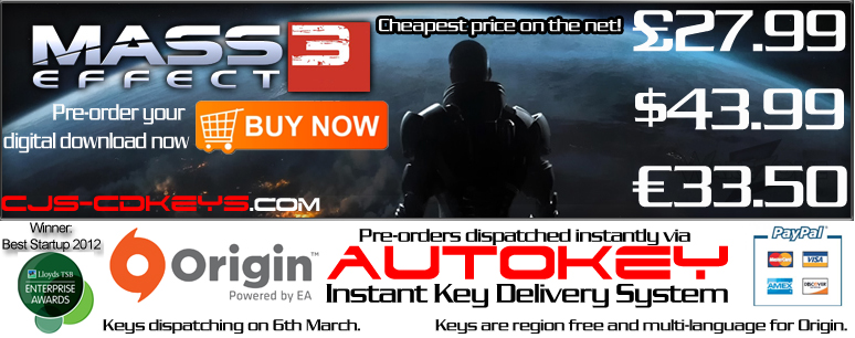 Mass Effect 3 Instant CD Key