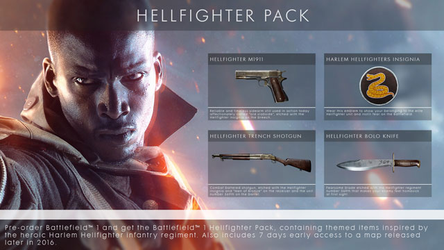 Battlefield 1 hellfighter dlc key