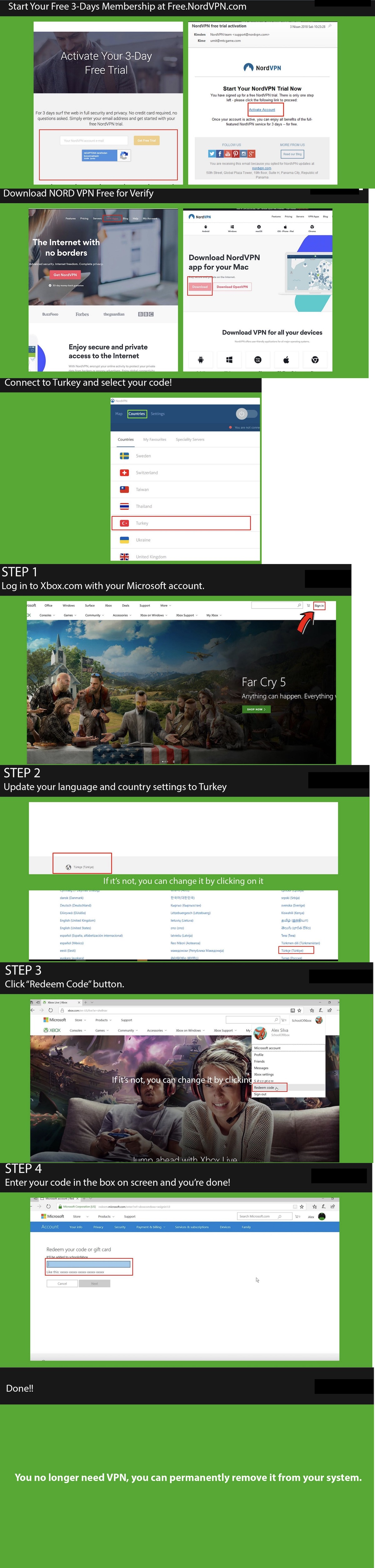 how to activate xbox key vpn